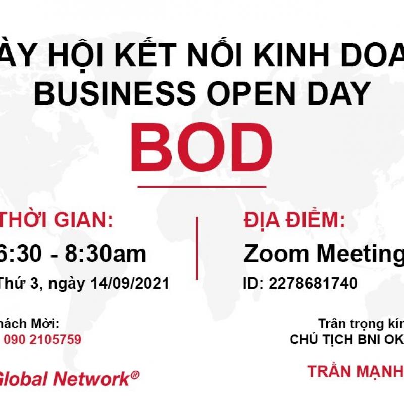 BOD (Business Open Day) - Ngày Hội Kết Nối Kinh Doanh - BNI OK Chapter - 17/09/2021
